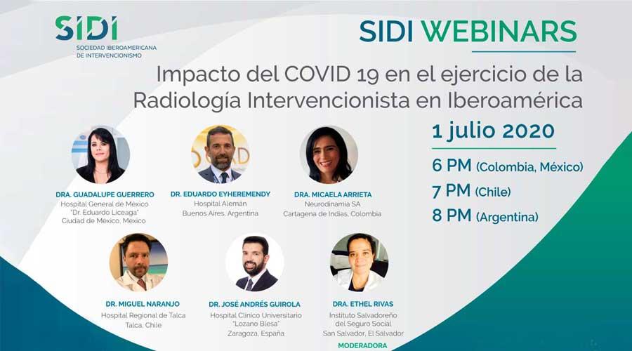 Webinar sobre el Impacto del Covid 19 en Radiología Intervencionista