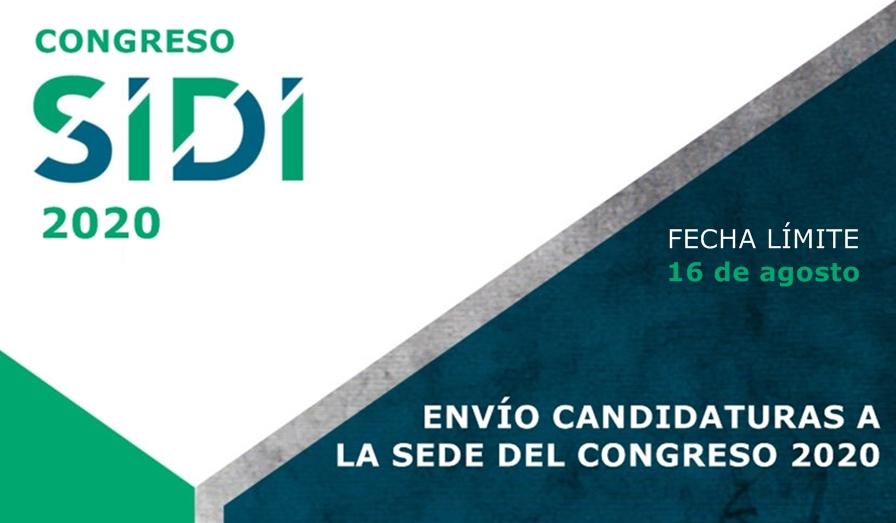 Candidaturas a la sede del Congreso SIDI 2020